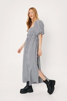 Thumbnail for your product : Nasty Gal Womens Gingham Print Square Neck Maxi Dress - Black - 6