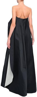 Zac Posen Flared Cape-effect Duchesse-satin Gown