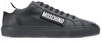 Moschino Logo-Patch Low-Top Sneakers