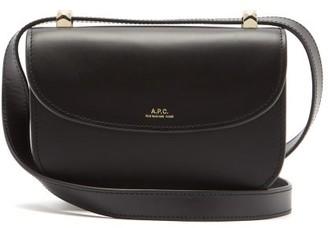A.P.C. Geneve Mini Smooth-leather Cross-body Bag - Black