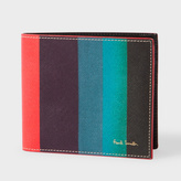 Paul Smith Men's Leather 'Artist Stripe' Print Billfold Wallet