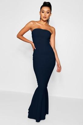 boohoo Bandeau Fitted Fishtail Maxi Bridesmaid Dress