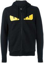 Fendi Bag Bugs zip hoodie - men - Cotton/Lamb Skin/Wool - 50