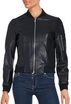 Bagatelle Sleeve Pocketed Leather Jacket