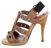 Lanvin Leather Cage Sandals