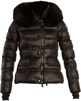 Moncler Armonique fur-trimmed quilted-down ski jacket