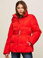 Miss Selfridge Belted oversized quilted puffer jacket