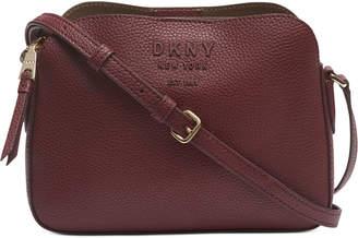 DKNY Noho Center Zip Leather Crossbody