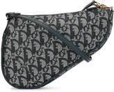 Christian Dior Trotter pattern Saddle shoulder bag