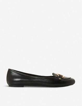 Dune Hylton leather ballet flats