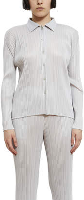 Issey Miyake Button Up Pleated Top