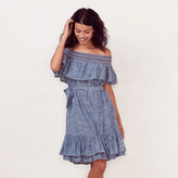 Lauren Conrad Women's Smocked Off-the-Shoulder Peasant Dress