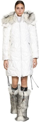 Byblos Long Quilted Pvc Down Jacket