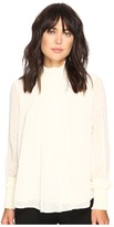 Romeo & Juliet Couture Textured Sheer Blouse