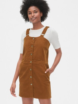 Gap Corduroy Button-Front Skirtall