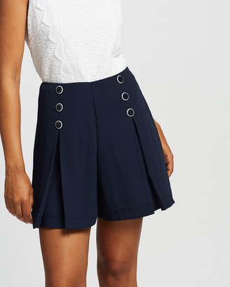 Review Women's Navy High-Waisted - Sweet Duet Shorts - Size One Size, 6 at The Iconic