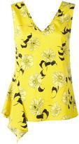 P.A.R.O.S.H. Split floral print blouse - women - Silk/Spandex/Elastane - M