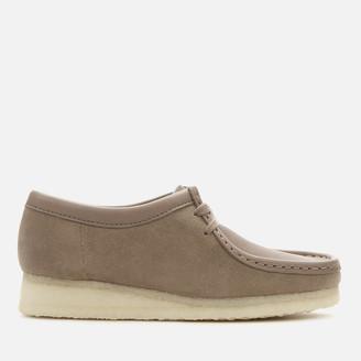 Clarks Women's Wallabee Suede Shoes - Mushroom