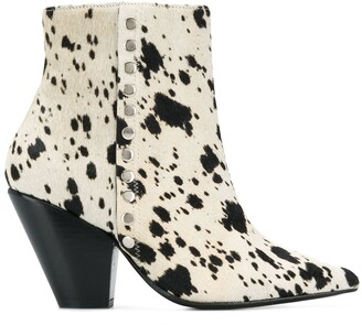 Toga Pulla Patterned Ankle Boots
