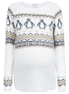 Dorothy Perkins Womens Dp Maternity Ivory Fairisle Penguin Jumper