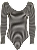 Topshop Stripe Low Bow Back Body
