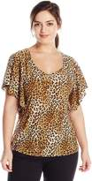 Star Vixen Women's Plus-Size Angel Sleeve Top
