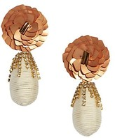Thumbnail for your product : Lizzie Fortunato Le Pavilion Sequin & Crystal-Embellished Flower Drop Earrings