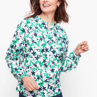 Talbots Feminine Button Front Shirt - Floral