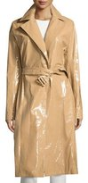 The Row Kelma Belted Leather Trenchcoat, Almond Butter