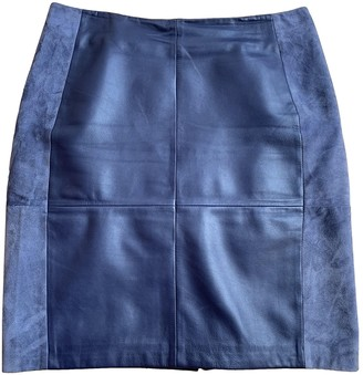 2nd Day Blue Leather Skirt for Women