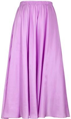Vince Lilac silk midi skirt