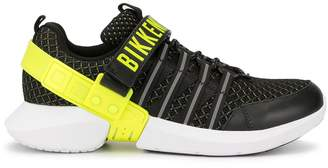 Dirk Bikkembergs logo strap mesh sneakers