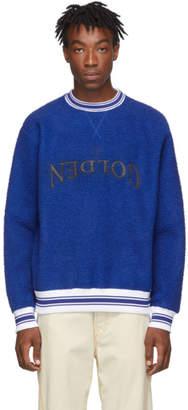 Golden Goose Blue Embroidery Logo Sweatshirt