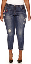 LOVE INDIGO Love Indigo Patch Skinny Jeans