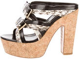 Nicholas Kirkwood Bow Embellished Snakeskin Sandals