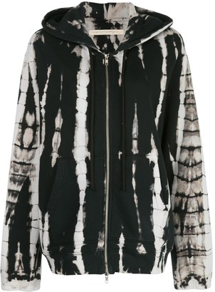 Raquel Allegra Oversized Abstract Print Hoodie