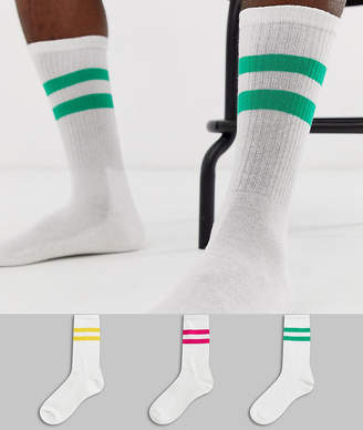 New Look sport socks in multi 3 pack