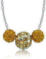 Lord & Taylor Sterling Silver Crystal Fireball Necklace