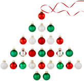 Holiday Lane Set of 27 Glass Mini Ball Ornaments, Created for Macy's