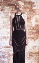 Mignon LM1188 Haltered Illusion Evening Gown
