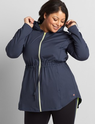 Lane Bryant LIVI Zip-Front Hooded Jacket With Wicking