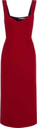 Emilia Wickstead Juditella Pleated Wool-crepe Midi Dress