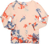 Splendid Girl's Seaside Tie Dyed French Terry Top, Size 7-14