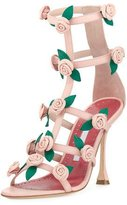 Manolo Blahnik Doit Rosette Caged Sandal, Rose