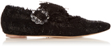 Simone Rocha Tweed cross-strap flats