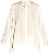 Etro Tie-neck step-hem silk blouse