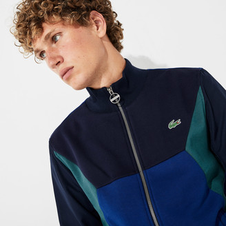 Lacoste Men's SPORT Color-Blocked Zip Up Tennis Sweatshirt