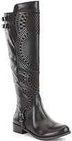 Gianni Bini Ellison Lasercut Wide Calf Riding Boots