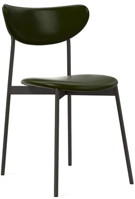 west elm Mid-Century Modern Petal Upholstered Dining Chair - Leather