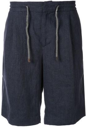 Brunello Cucinelli Linen Drawtring Shorts